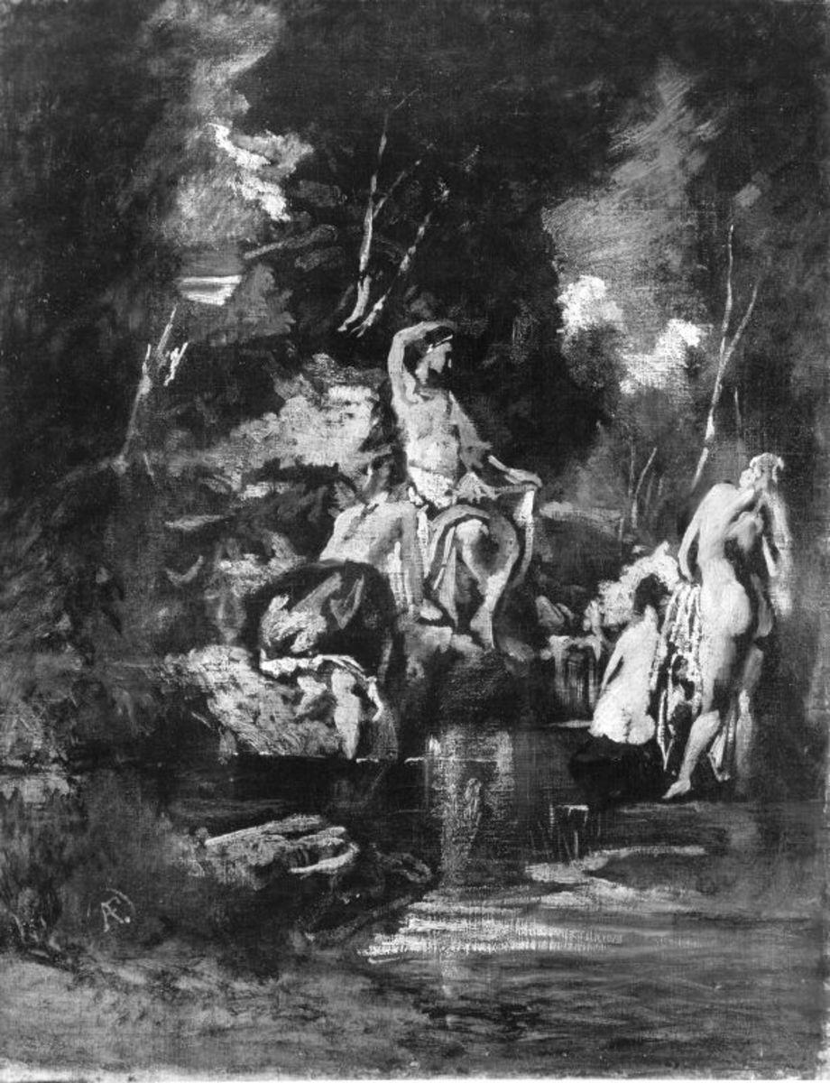 Diana, dem Bade entsteigend, von Nymphen umgeben