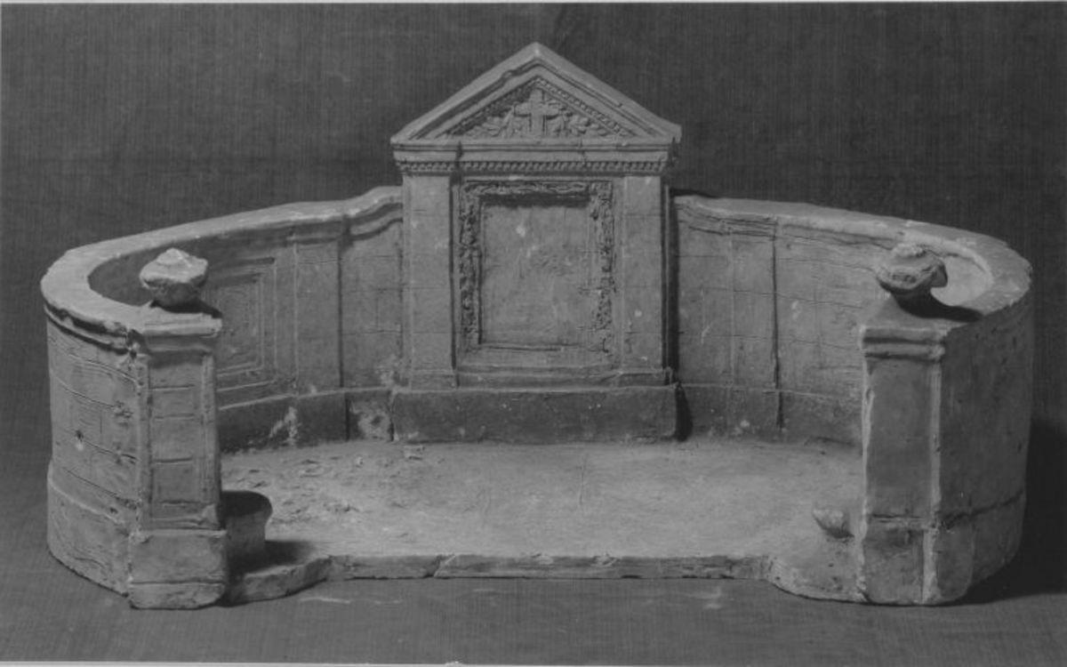 Modell der Grabanlage für die Familie Ernst Russell in Berlin