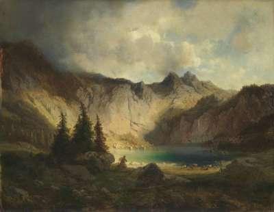 Ansicht des Obersees bei Berchtesgaden