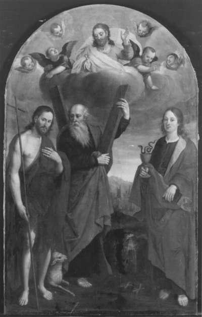 Die hll. Johannes der Täufer, Andreas und Johannes der Evangelist