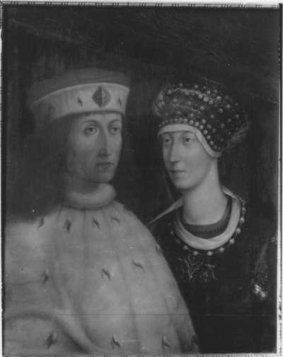 Bildnis des Kurfürsten Philipp der Aufrichtige von der Pfalz mit Gemahlin