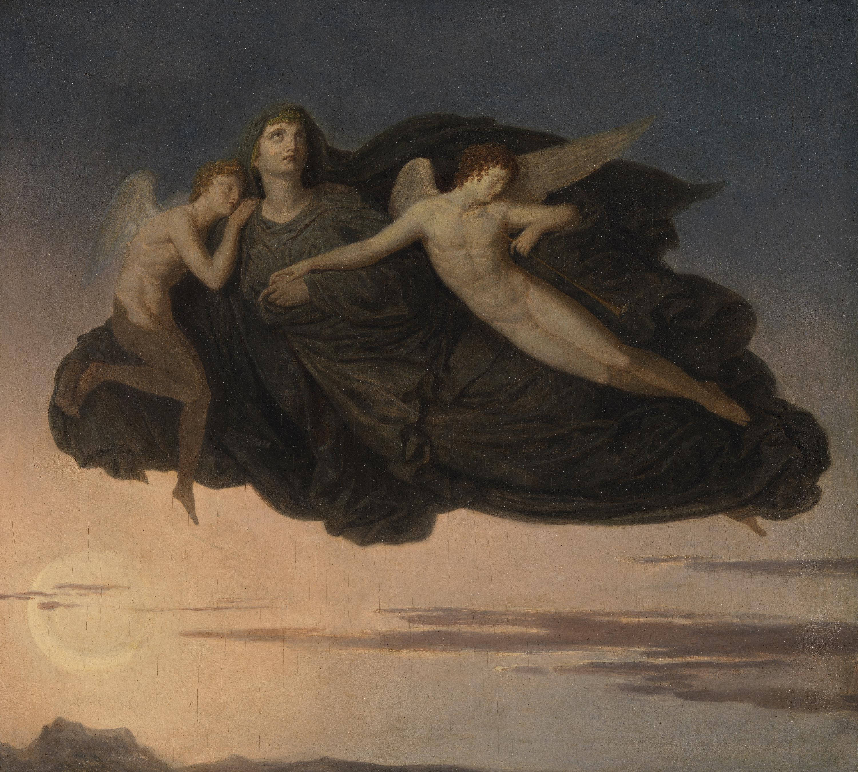Die Nacht mit ihren Kindern Schlaf und Tod