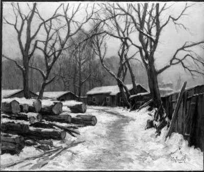 Baustelle im Schnee, Untergrundbahn