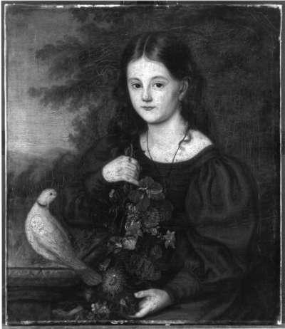 Mädchen mit Blume und Taube (Auguste von Heiligenstein)