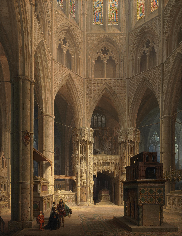 Der Chor der Westminster Abbey in London mit dem Grabmal Eduards des Bekenners