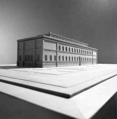 Modell der ehemaligen Neuen Pinakothek
