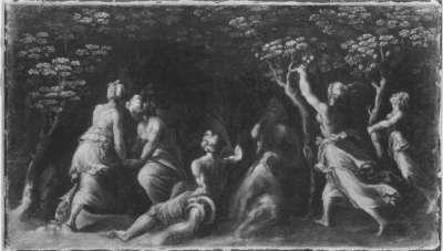 Früchte sammelnde Frauen