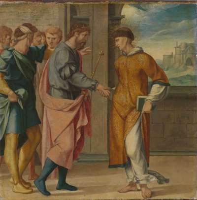Cyriakus-Folge: Der hl. Cyriakus wird vom Perserkönig begrüßt