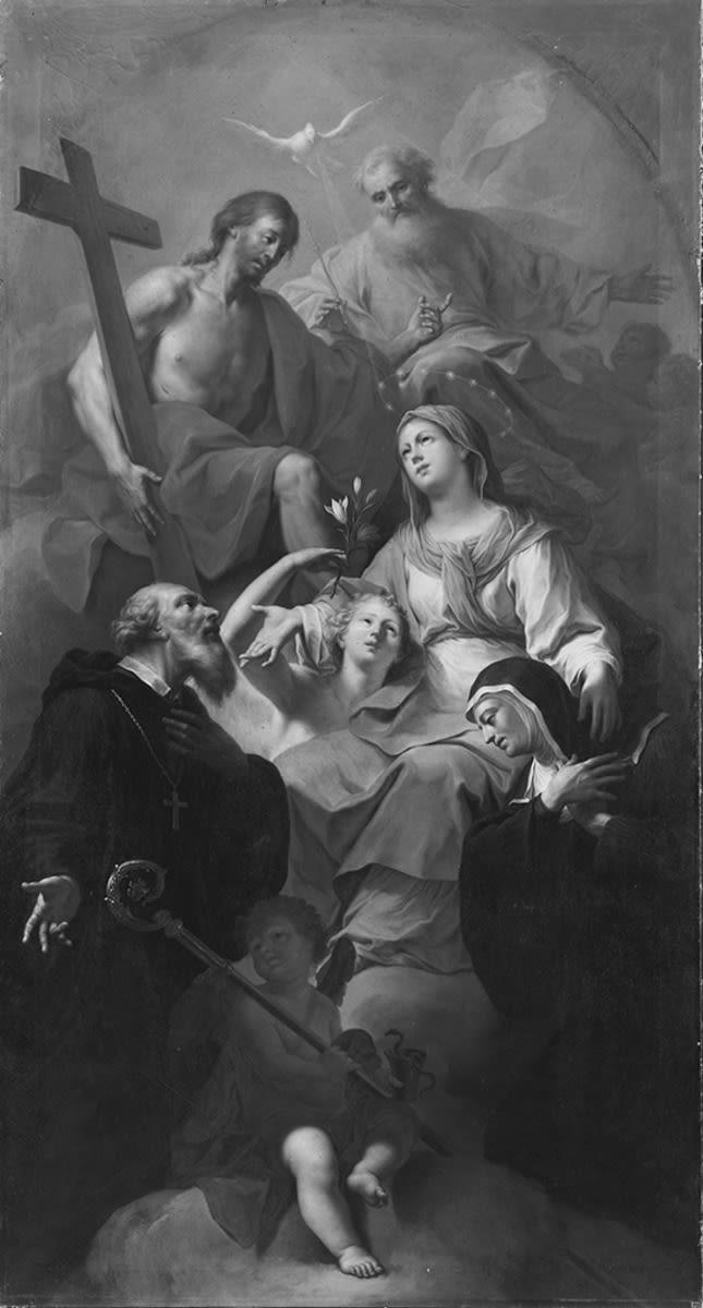 Heilige Dreifaltigkeit mit den hll. Maria, Benedikt und Scholastika
