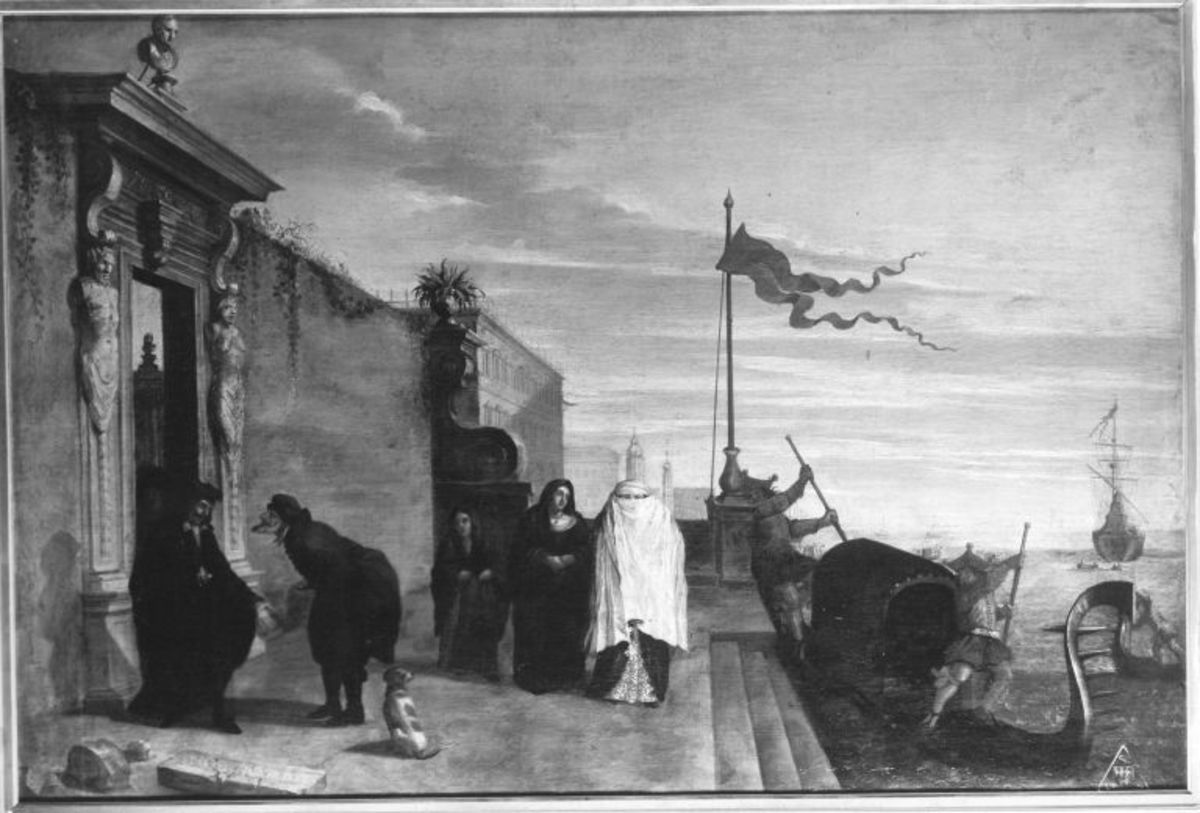 Gondel an venezianischer Steintreppe