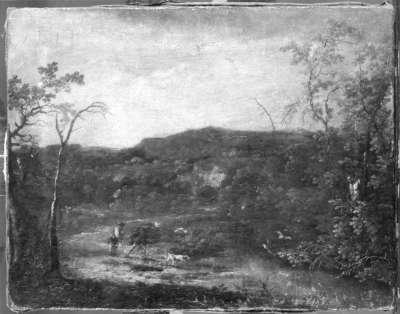 Landschaft mit Jäger