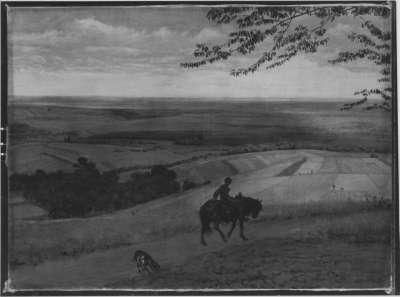 Taunuslandschaft mit Reiter