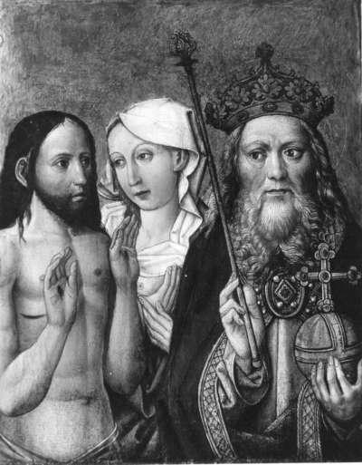 Christus und Maria als Fürbitter vor Gottvater
