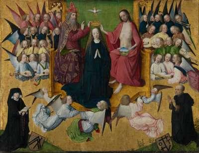 Rinck-Epitaph: Krönung Mariens mit Stiftern