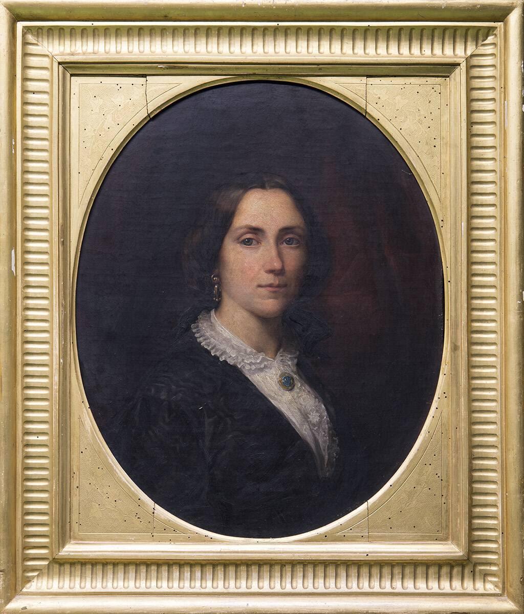 Die Ehefrau des Bildhauers Karl Voss, geb. Wolff