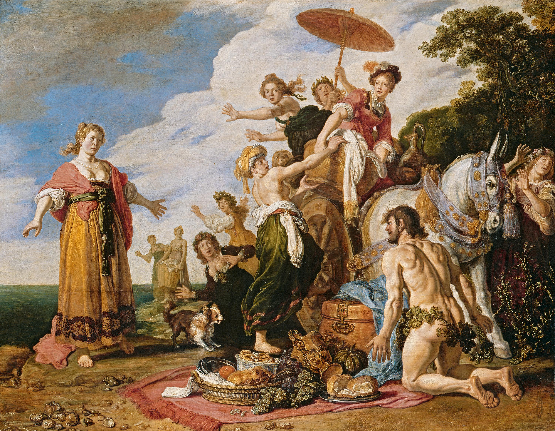 Odysseus vor Nausikaa