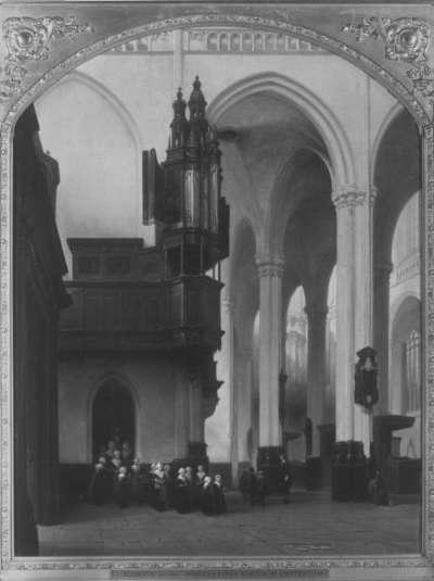 Das Innere der Neuen Kirche in Amsterdam