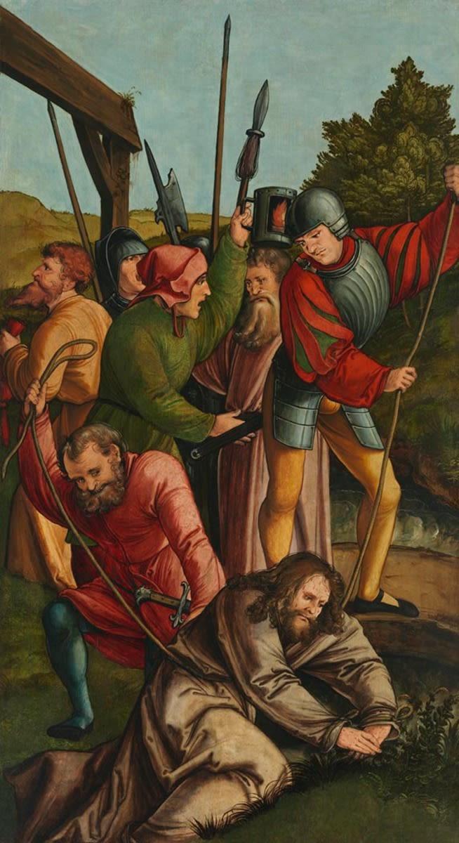 Christgartner Altar: Fall Christus am Bach Cedron