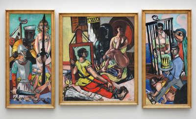 Versuchung (Versuchung des Heiligen Antonius) Triptychon - Mittelteil