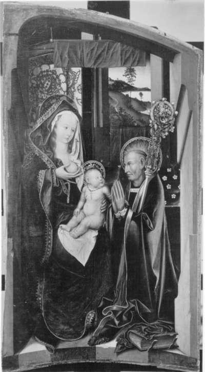 Teile eines Altares: Vision des hl. Bernhard