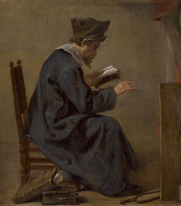 Ein Gelehrter am Kaminfeuer