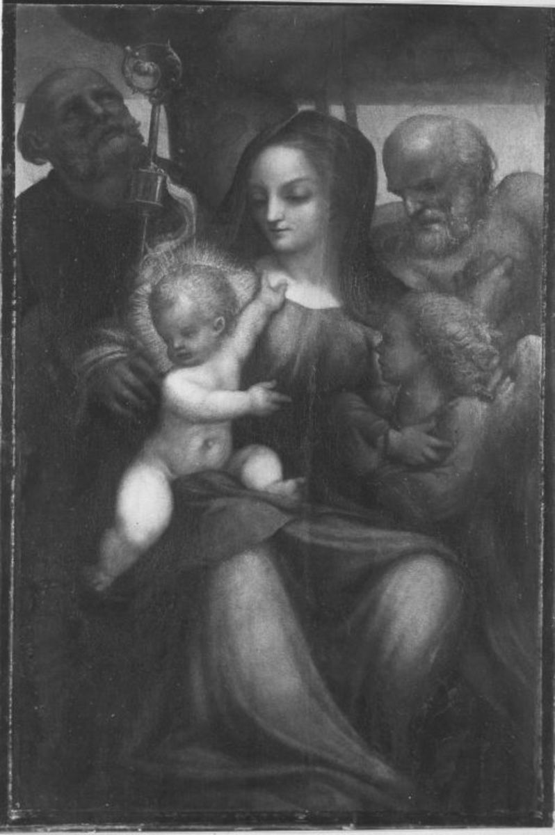 Maria mit Kind und Heiligen