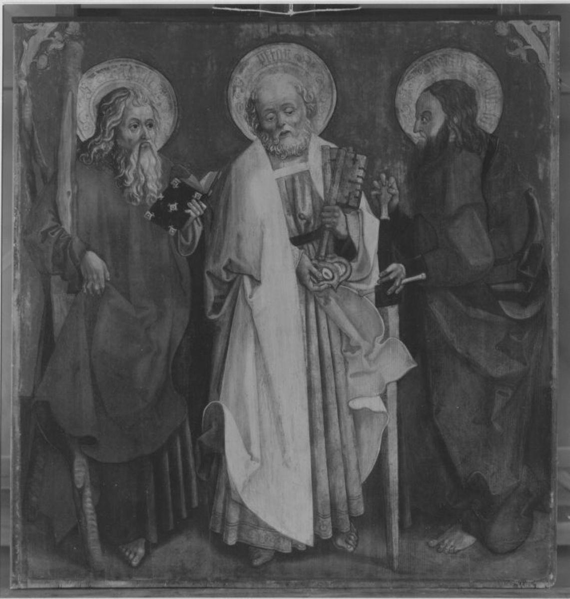Die hll. Apostel Andreas, Petrus und Matthäus