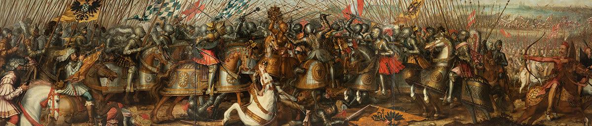 Ludwig IV. (der Bayer) von Bayern besiegt Friedrich III. von Habsburg 1322  in der Schlacht bei Mühldorf
