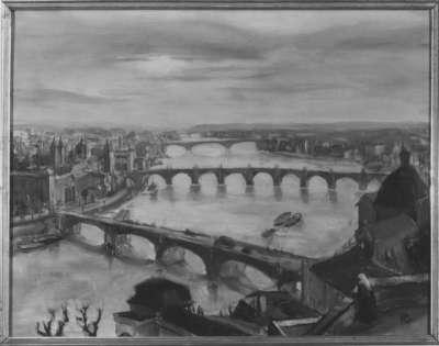 Blick auf Prag und Moldaubrücke
