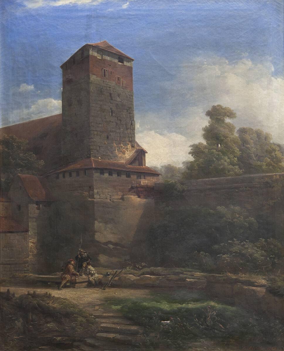 Der fünfeckige Turm in Nürnberg