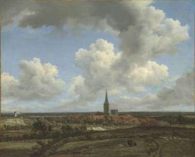 Flachlandschaft mit Ansicht von Ootmarsum (Overijssel)
