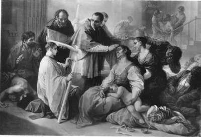 Der hl. Karl Borromäus unter den Pestkranken