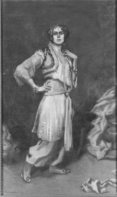 Dame in türkischem Kostüm
