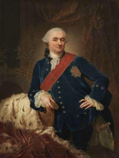 Bildnis des Kurfürsten Karl Theodor von der Pfalz und Bayern (1724-1799) im blauen Samtanzug