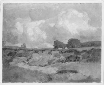 Landschaft mit Sandgrube