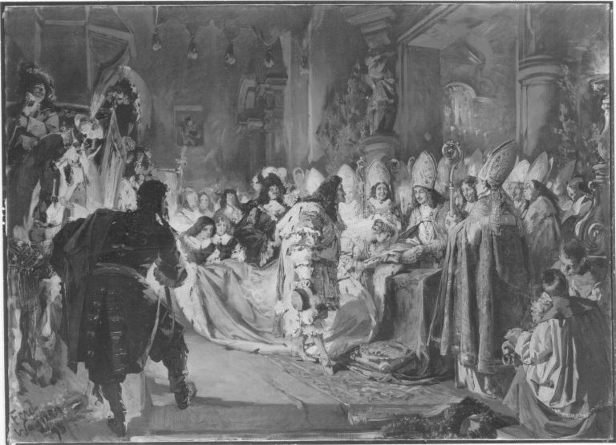 Trauung Kaiser Leopold I. mit Herzogin Eleonore von Neuburg im Jahr 1676
