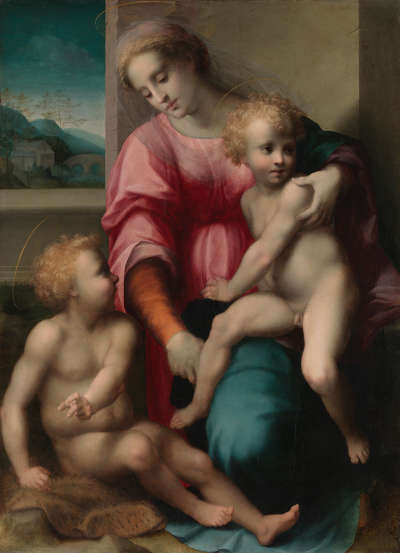 Maria mit dem Kind und dem Johannesknaben