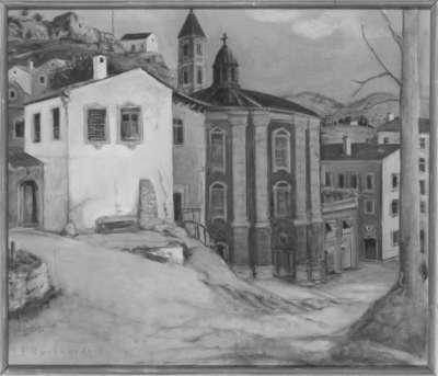 Südländische Bergstadt