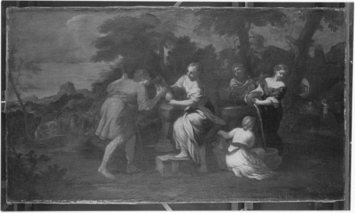Rebekka und Laban am Brunnen