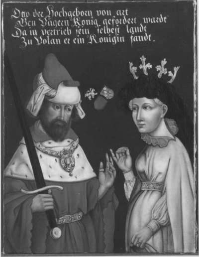 Bildnis des Königs Otto I. von Ungarn mit seiner zweiten Gemahlin Agnes