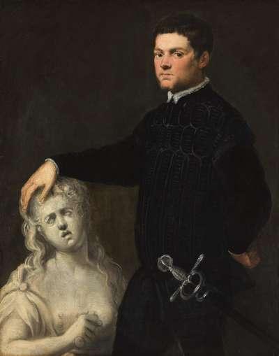 Bildnis eines Jünglings mit einer Skulptur der Lucretia