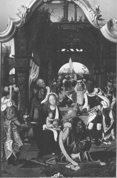 Triptychon, Mitteltafel: Anbetung der Könige