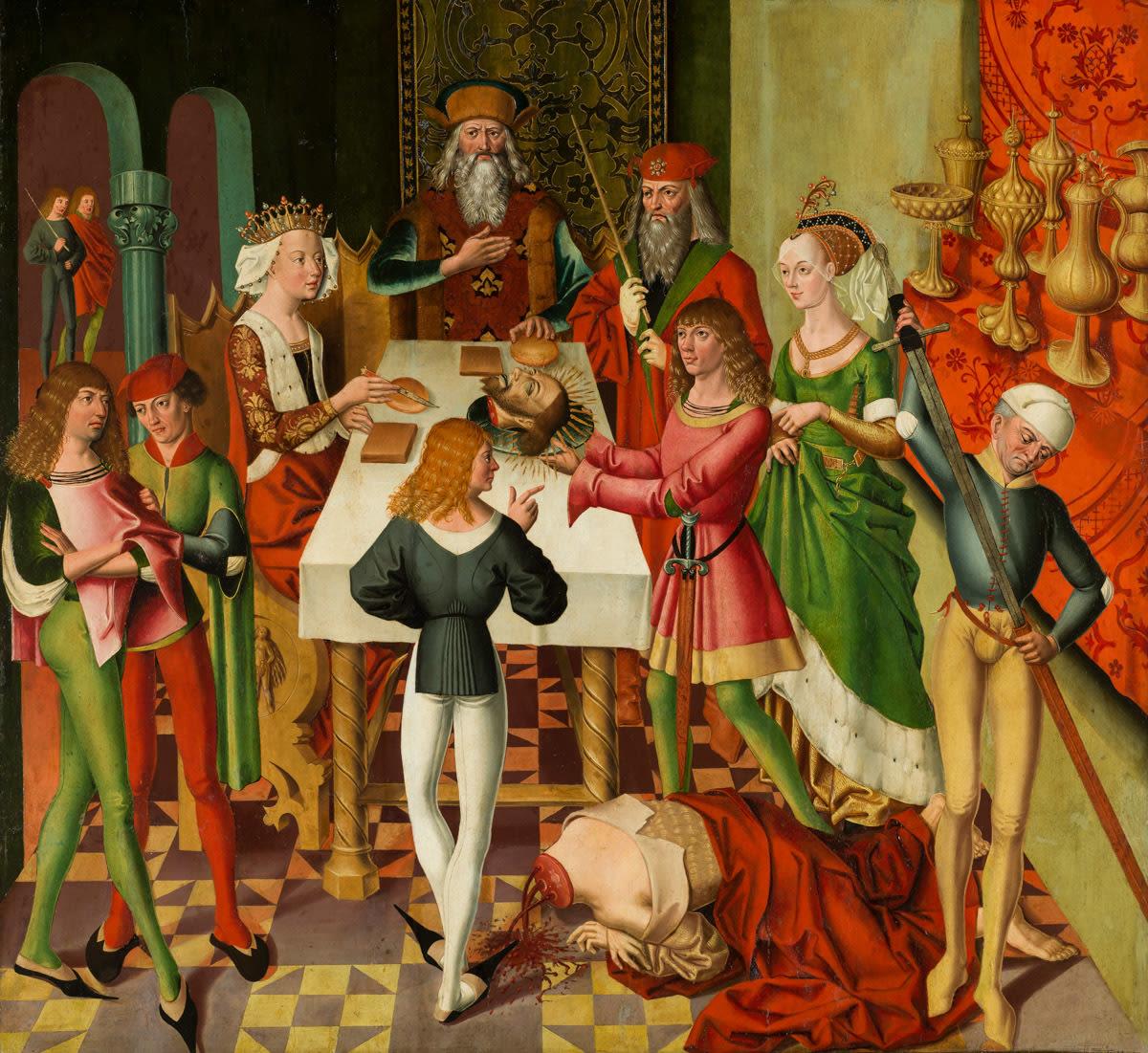 Atteler Altar: Gastmahl des Herodes mit Enthauptung Johannes des Täufers