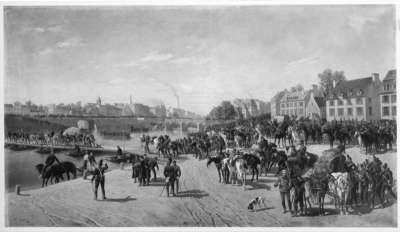 Übergang des II. bayerischen Korps über die Seine bei Corbeil am 17. September 1870