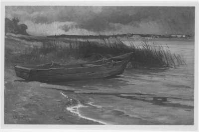 Aufziehendes Gewitter am Chiemsee
