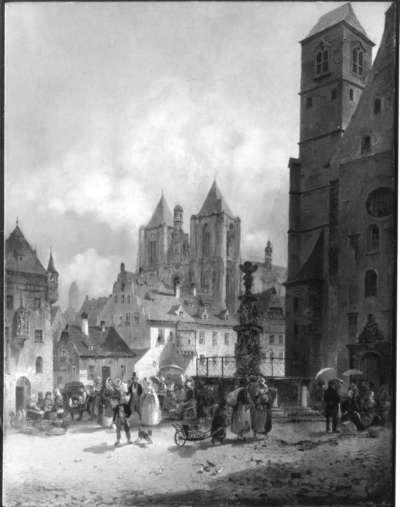 Der Neupfarrplatz in Regensburg