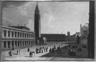 Blick über die Piazzetta gegen den Markusplatz