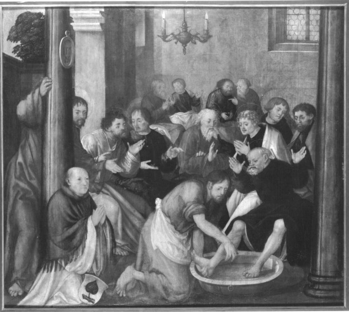Erster Wettenhauser Altar: Fußwaschung Christi Rückseite: nicht erhalten