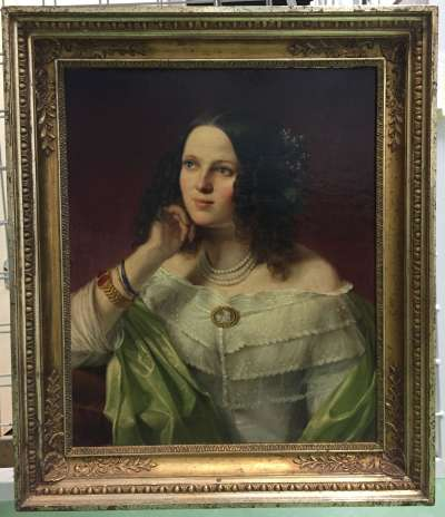 Bildnis der Frau von Bockelberg, geb. von Werdech (1812-1888) (?)