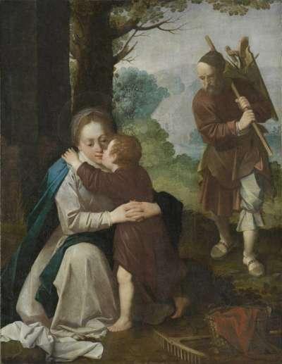 Die Heilige Familie im Freien